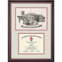 Image For Alumni Artwork University of Wisconsin Single Diploma Frame