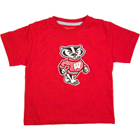 Image For College Kids Bucky Badger Toddler's T-Shirt (Red)