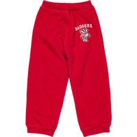 Image For College Kids Toddler's Bucky Badger Sweatpants (Red)