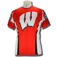 Image For Adrenaline Wisconsin Bike Jersey (Red/White) *