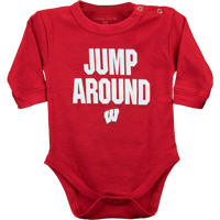 Image For College Kids Infant Jump Around Onesie (Red)