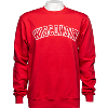 Cover Image for Champion Wisconsin Reverse Weave Crew Neck Sweatshirt (Red)