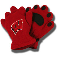 Cover Image For Bear Hands and Buddies Infant/Toddler Badger Mittens (Red)