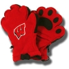 Image for Bear Hands and Buddies Adult Wisconsin Mittens (Red)