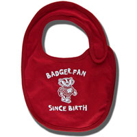 Cover Image For College Kids Badger Fan Bib (Red)