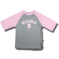 Cover Image For Third Street Infant/Toddler WI Baseball T-Shirt (Gray/Pink)
