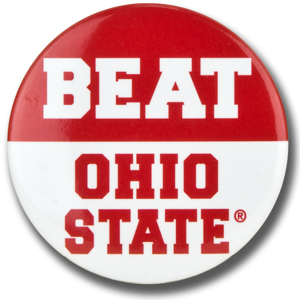 college athletic pinback buttons OHIO STATE BUCKEYES sports team pin badges