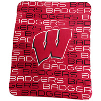 Image For Logo Chair Wisconsin Badgers Classic Fleece Blanket (Red)