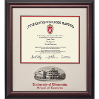 Image For Alumni Artwork School Diploma Frame-Business