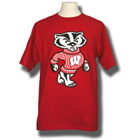 Image For Blue 84 Bucky Badger T-Shirt (Red) 3X