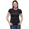 Image for Top Promotions Women's Wisconsin Rhinestone T-Shirt (Black)*