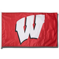 Cover Image For WinCraft Sports Wisconsin Motion W Flag