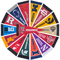 Image For Rico Industries, Inc. Big Ten Pennant Set