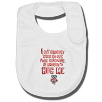 Cover Image For College Kids Grouchy Badger Bib (White)