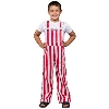 Image for Game Bibs Youth Overalls (Red/White)