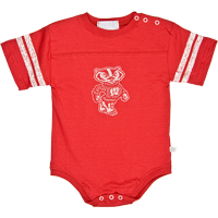 Image For Third Street Bucky Badger Infant Onesie (Red)