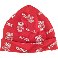 Image For Third Street Bucky Badger and Wisconsin Infant Cap (Red)