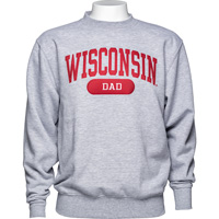 Cover Image For Blue 84 Wisconsin Dad Crew Neck Sweatshirt (Gray)