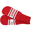 Cover Image for Wear-a-Knit Cuffed Wisconsin Knit Hat (Red/White)