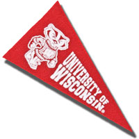 Image For Collegiate Pacific Wisconsin Magnet Mini Pennant (Red)