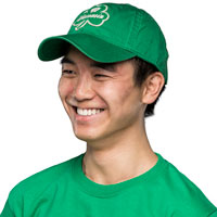 Image For Legacy Wisconsin Shamrock Adjustable Hat (Kelly Green)
