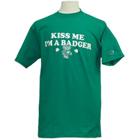 "Image For Champion ""Kiss Me"" Wisconsin Badger T-Shirt 3X (Green)"