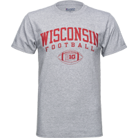 Image For Champion Big 10 Football T-Shirt (Gray) 3XL
