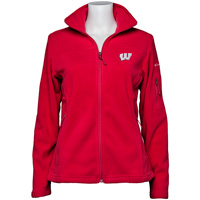 Image For Columbia Women's Wisconsin Full Zip Fleece (Red) *