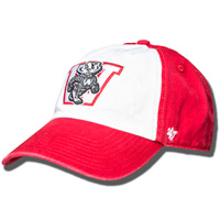 Image For '47 Brand Vault Wisconsin Badgers Hat (Red/White)