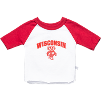 Image For Third Street Kids Bucky Badger Baseball T-Shirt (White)