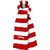 Cover Image for Wear-A-Knit Striped Wisconsin Beanie (Red/White)