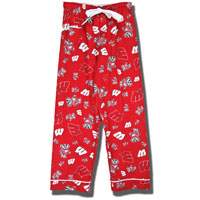Image For Boxercraft Women's Wisconsin Flannel Pants (Red)*