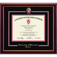 Cover Image For #1 Church Hill Classics - Shield W Diploma Frame UW Madison