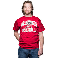 Image For Blue 84 WI Basketball T-Shirt (Red) *