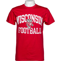 Image For Blue 84 WI Football T-Shirt (Red)