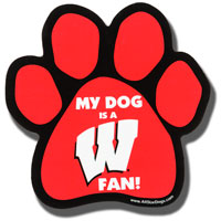 Image For All Star Dogs Wisconsin Car Magnet *