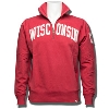 Cover Image for '47 Brand Wisconsin Vault Hooded Sweatshirt (Cream/Red)
