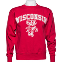 Cover Image For Blue 84 WI Bucky Crew Neck Sweatshirt (Red)