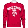 Cover Image for Blue 84 Wisconsin Bucky Badger Crew Neck Sweatshirt (Gray)