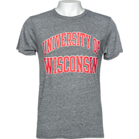 Cover Image For League University of Wisconsin Tri-Blend T-Shirt (Gray)