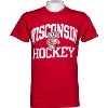 Image for Blue 84 Wisconsin Hockey T-Shirt (Red)