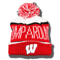 Image For '47 Brand Jump Around Knit Hat (Red/White/Black)