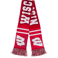 Image For '47 Brand Wisconsin Scarf (Red)