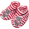 Image for Creative Knitwear Bucky Badger Infant Booties (Red/White)