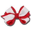 Image for Ashley on Campus Large Hair Bow (Red/White)