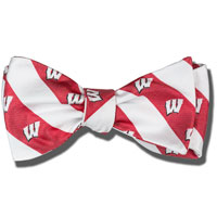 Image For Jardine Wisconsin Badgers Bow Tie (Red/White)