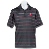 Image for Antigua Deluxe Motion W Wisconsin Polo (Black) *