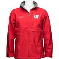 Image For Columbia Wisconsin Badgers Ascender Softshell Jacket (Red) *