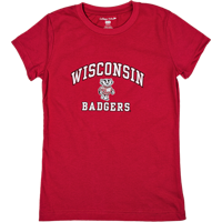 Image For College Kids Girl's WI Badgers T-Shirt (Red)