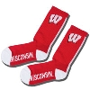 Image for For Bare Feet Wisconsin Vertical Stripe Sock (Red)